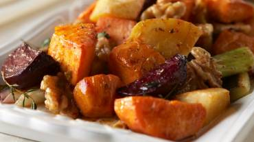 Liporidex Healthy Thanksgiving Day Recipe: Cider-Glazed Roots with Cinnamon Walnuts