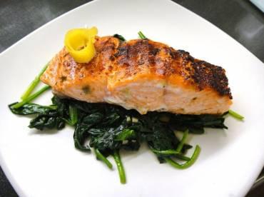 Thyroid Type Salmon Steak Florentine Recipe