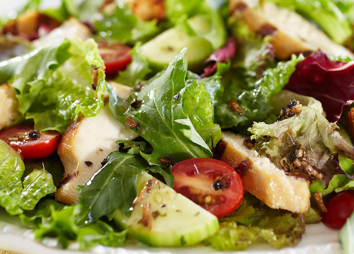Thyroid Type Chef's Salad and Dressing Recipes